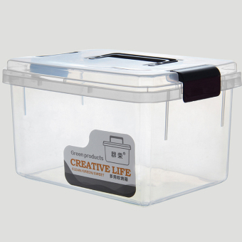 Cartoon plastic transparent Toy storage box large storage box