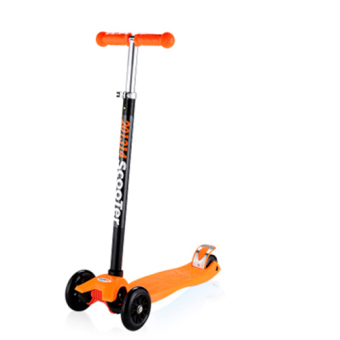 CMAX Height Adjustable Kids Scooter with Flashing LED Wheels(Orange)