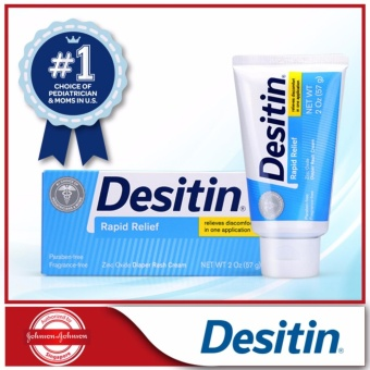 Desitin Baby Diaper Rash Relief Rapid Relief Cream 2oz