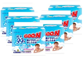 GOO.N Baby Wipes 3x70s x 6 packs