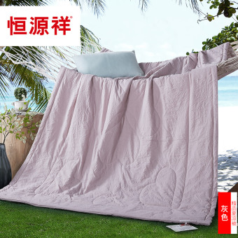 Heng Yuan Xiang textile summer cool air-conditioning was summer was thin quilt can be wash single or double solid lunch student Bedding
