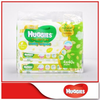 Huggies Baby Wipes Gentle Care 40pcs x 4 packs