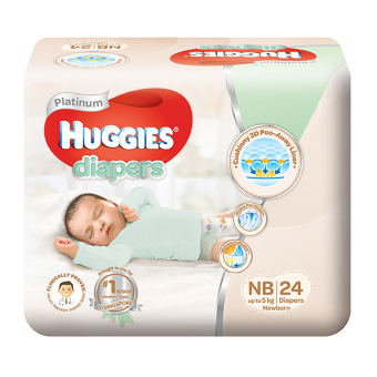Huggies Platinum Diapers Newborn 24pcs