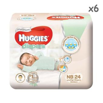 Huggies Platinum Tape New Born 24pcs x 6 packs