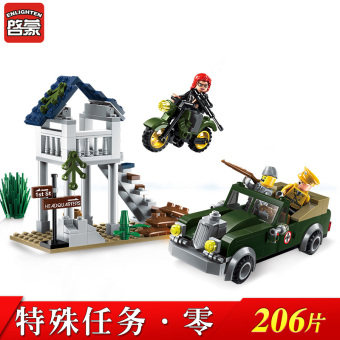 Intelligence new assembled model military building blocks