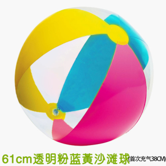 Intex transparent playing in the water toys ball inflatable beach ball