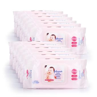 Johnson's Baby Skincare Wipes Fragrance Free 75s x 12 packs