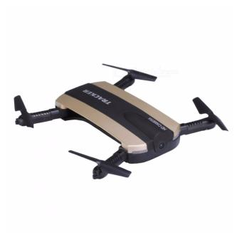 JXD 523 Tracker Mini Foldable Pocket Drone with WIFI HD Camera[Gold]