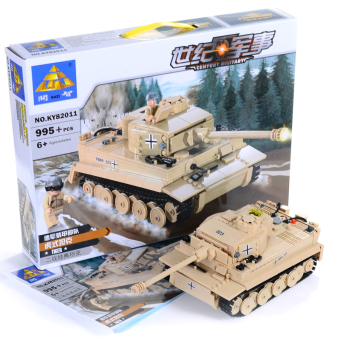 KAZI Educational Building Blocks assembled German tiger-tankbuilding blocks