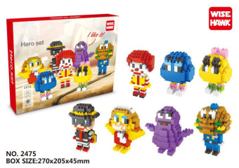 McDonald's micro diamond small particles toys
