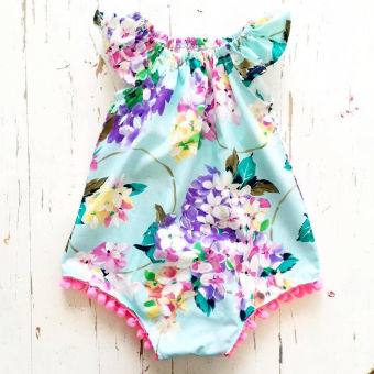Newborn Infant Baby Girls Floral Romper Jumpsuit One-piece SunsuitClothes