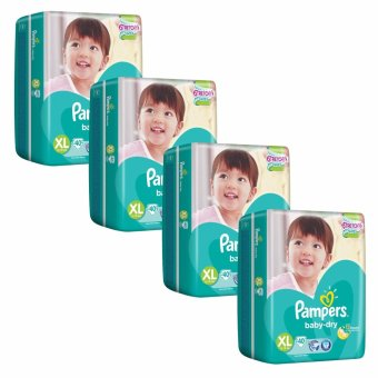 Pampers Baby Dry Diapers XL 40s (12-16kg) x 4 Packs