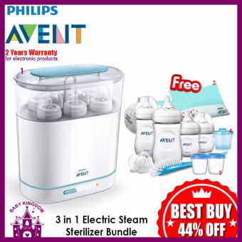 Philips Avent 3 in 1 Electric Steam Sterilizer Bundle