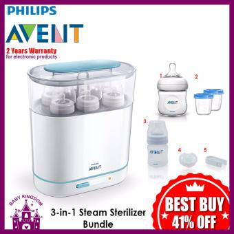Philips Avent 3 in 1 Steam Sterilizer Bundle