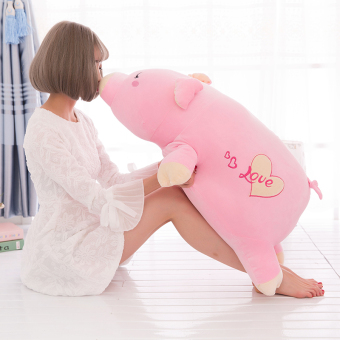 Pig girl's large doll pillow