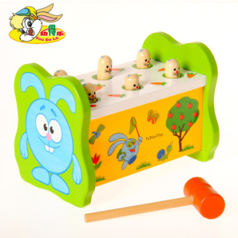 Playing hamster beat young sidel desktop game table baby years oldchildren's educational toys wooden percussion