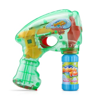 Safety Fully Automatic Electric Light toy bubble gun