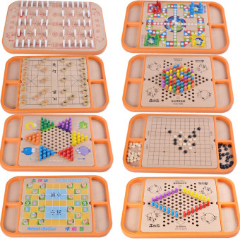 Twenty-three one early childhood board game educational chessWooden Toys