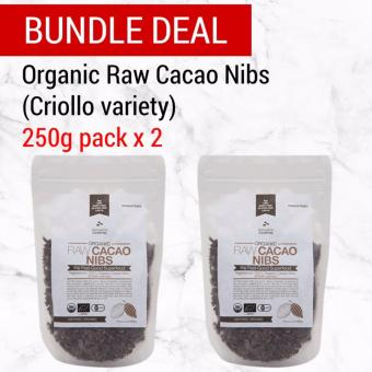 Bundle Deal: Nature's Superfoods Organic Raw Cacao Nibs 250g x 2