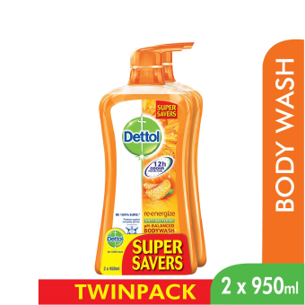 Dettol Body Wash Re-Energize P&P 950Ml x 2