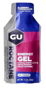 GU Roctane Energy Gel Blueberry Pomegranate 24 Pack With Free Gift