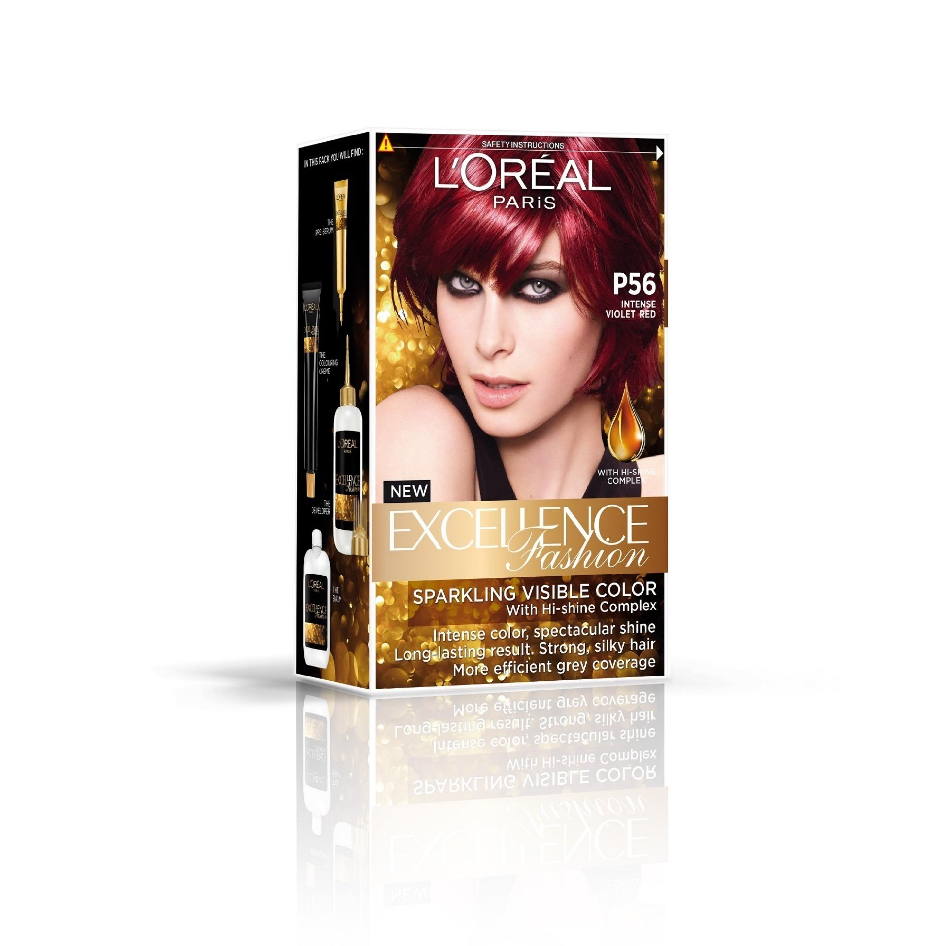 LOreal Paris Excellence Hair Colour - Light Red Brown #5.6 ...