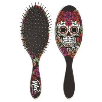 Wet Brush Sugar Skull Red Rose