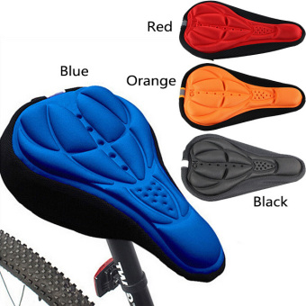1/4 Colors Bike Bicycle 3D Silicone Gel Pad Seat Saddle Cover SoftCushion Black