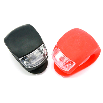 2X Silicone Bike Bicycle Cycling Head Front Rear Wheel LED FlashLight Lamp