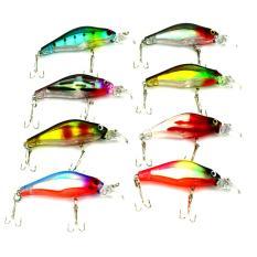360DSC Minnow Double Hooks Plastic Fishing Lures Baits Crankbait with Rings Ball 8cm/6.3g