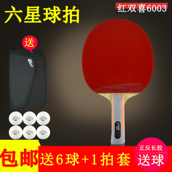 DHS Hi hurricane straight finished racket table tennis racket
