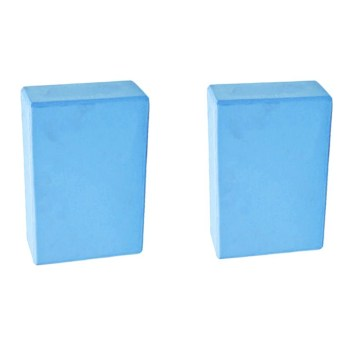 PAlight 2Pcs Yoga Pilates EVA Foam Block Stretch Exercise Brick(Blue) - intl