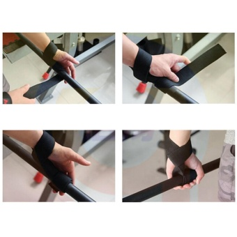 Power Weight Lifting Training Gym Hook Grips Straps Wrist Support Lift - intl