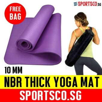 SPORTSCO 10mm NBR Thick Yoga Exercise Mat (Purple)