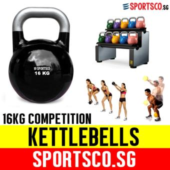 SPORTSCO 16KG Black Competition Kettlebell (SG)