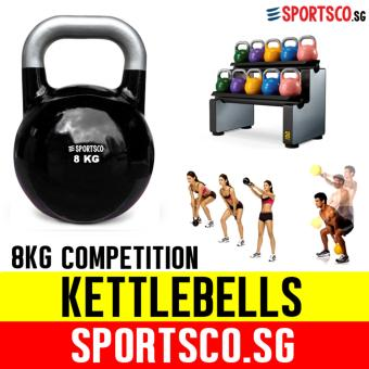 SPORTSCO 8KG Black Competition Kettlebell (SG)