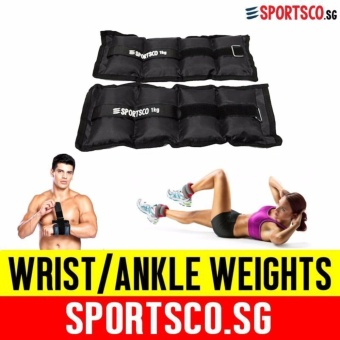 SPORTSCO Oxford Wrist / Ankle Weight 1KG each - Sold in Pair (Black) (SG)