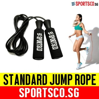 SPORTSCO Standard Grip Jump Rope (Black) (SG)