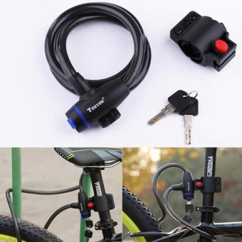 Universal Bicycle MTB Mountain Bike lock Anti-theft Ring Wire Rope Lock