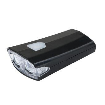 USB Rechargeable Bike Bicycle Cycle LED Front Head HeadlightLight(Black) - intl