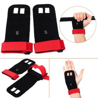 Weight Lifting Pull Up Hand Grip Palm Protectors Fitness Gloves (red/s) - intl