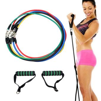 Yoga Fitness Exercise Resistance Bands Stretch Heavy Duty Tubes -intl