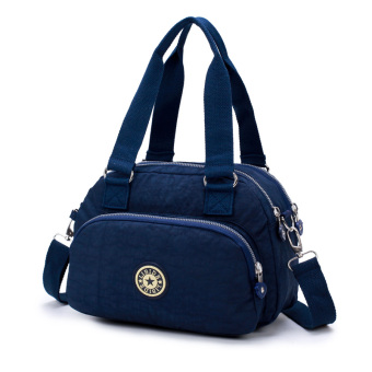 2017 New style shoulder messenger bag handbag hand bag cloth nylon Oxford waterproof canvas women bag small bag (Dark blue color)
