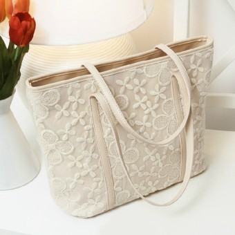 2017 new wild casual bag small fresh lace crochet handbag shoulder bag messenger bag handbag