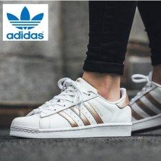 1b23d75488ac new adidas originals superstar  80s rose gold metal toe cap sneakers