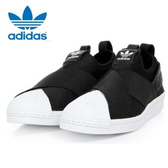 Adidas Originals Superstar Slip-on Shoes S81337 Black/White Express - intl