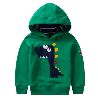 Baby Boys spring small dinosaur hedging new hoodie