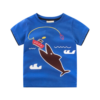 Baby New style round neck tide cotton short-sleeved t-shirt (9318)