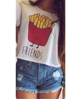 Best European and American hot summer T-shirt (French fries)