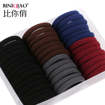 Black seamless High Elastic tousheng hair Ring (I large mixing [40])